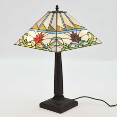 "14"" SQUARE SHADE TWISTED STEM LAMP"