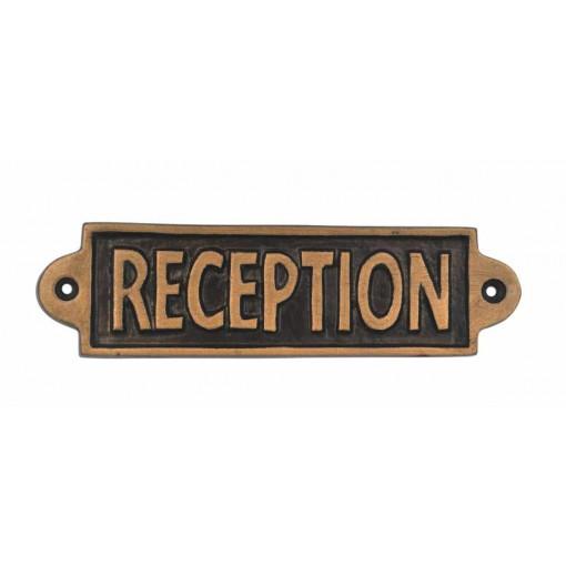 RECEPTION- METAL SIGN