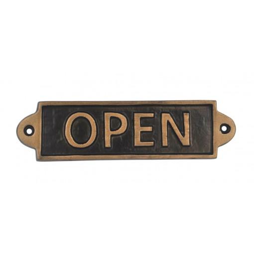 Open-Metal Sign