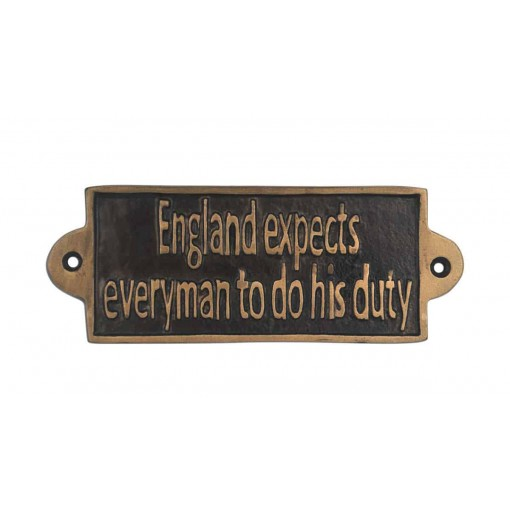 DUTY OF ENGLISH - METAL SIGN